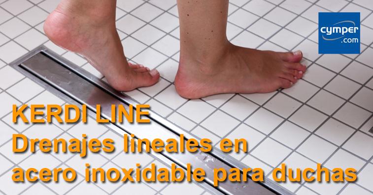 KERDI LINE - Drenajes lineales en acero inoxidable para duchas