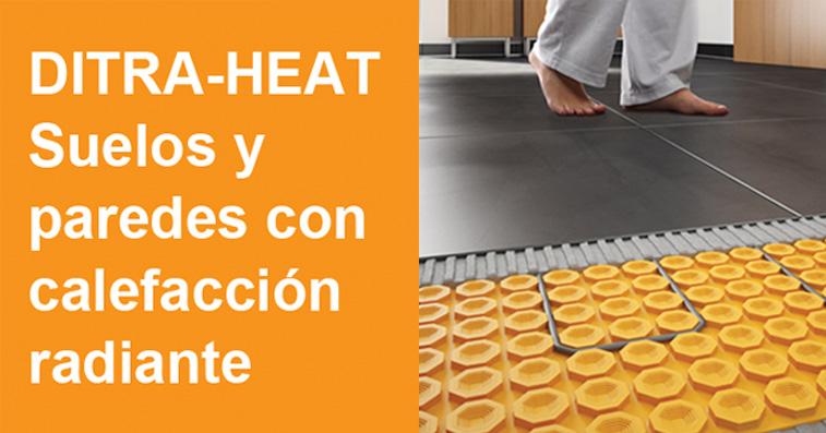 Calefacci n en suelo y pared con ditra heat cymper - Calefaccion por hilo radiante ...