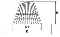 Paragravas polipropileno modelo españa
