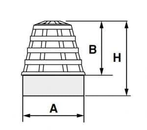 Parahojas de polipropileno para desagüe flexible