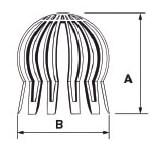 Parahojas universal de polipropileno para desagües