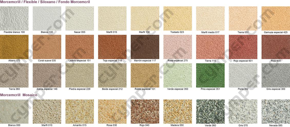 Revestimiento sint tico mineral para fachadas morcemcril - Mortero monocapa colores ...