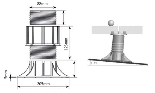 Soporte regulable para tarima flotante de cabezal autonivelante
